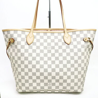 [Pre] [almost new] Louis Vuitton Neverfull MM Damier Azur N41605 [Tote]