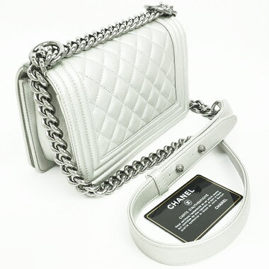 [Used] [Good Condition] Chanel Small Flap Bag Chain Shoulder Matrasse Stitch Silver Hardware Boy Chanel A67085 [Shoulder Bag]