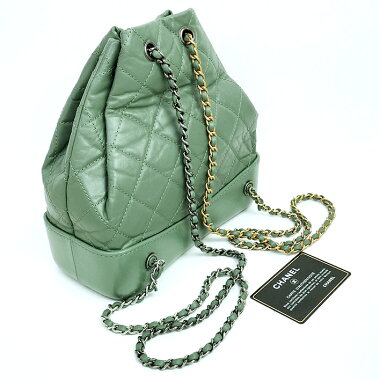 [Used] [Almost new] Chanel Gabriel De Matrasse Drawstring type chain shoulder small bag Vintage style metal fittings Coco mark A94485 [Backpack/backpack]