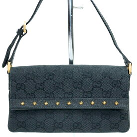 [GOODA] [Used] [Good Condition] Gucci GG Pattern Studs Mini Bag Shoulder Bag GG Canvas 121560 002058 [Accessory Pouch]