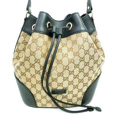 [Used] [Unused goods / new old goods] Gucci bucket bag drawstring GG pattern diagonal hanging gold metal fittings GG canvas 388703520981 [shoulder bag]