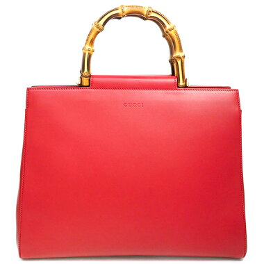 [Used] [almost new] Gucci Nim Fair Medium 2WAY Top Handle Shoulder Bag Gold Hardware Bamboo 453766493075 [Handbag]