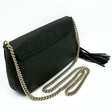 [Used] [Good Condition] Gucci Fringe Tassel GG Logo Chain Shoulder Diagonally Hanging Gold Hardware Soho 336752/223317 [Shoulder Bag]