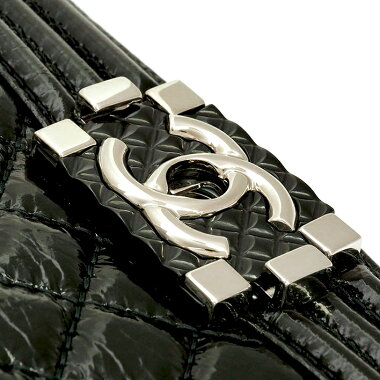 [Used] [Unused / New old goods] Chanel chain shoulder diagonally wrinkled mattresse stitch silver metal fittings Boy Chanel A67086 [Shoulder bag]