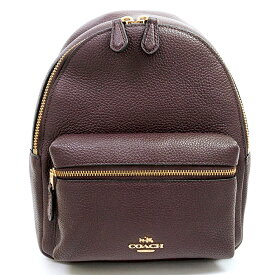 [New Arrival] [Used] [Almost New] Coach Charlie Mini Backpack Gold Metal F38263 [Backpack Backpack]