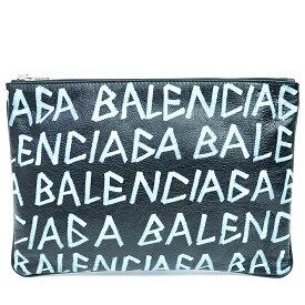 【中古】【GOODA掲載】【未使用品・新古品】バレンシアガ M ミディアム キャリー クリップ マルチケース セカンドバッグ ヴィンテージ加工 キーリング付き 2019年春夏 グラフィティ 535532・1080・X・528147 【クラッチバッグ】