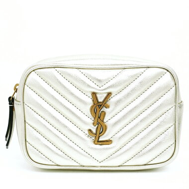 [Used] [Unused / New Old Items] Yves Saint Laurent Roberto Bag Quilted Pouch YSL Logo Tassels with Antique Gold Hardware Materasse 534817 [Body Bag / Waist Pouch]