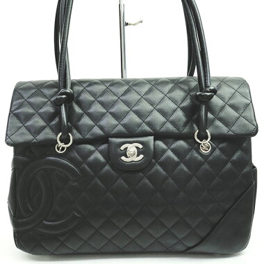 [Used] [Good Condition] CHANEL MATRASSE Turn Lock Flap Tote Bag CC Coco Mark Cambon Line A26181 [Shoulder Bag]