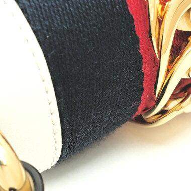 【中古】【ほぼ新品】グッチシルヴィシェリーミニバッグ2WAYショルダーゴールド金具トリコロールカラーウェブ470270・493075【ハンドバッグ】
