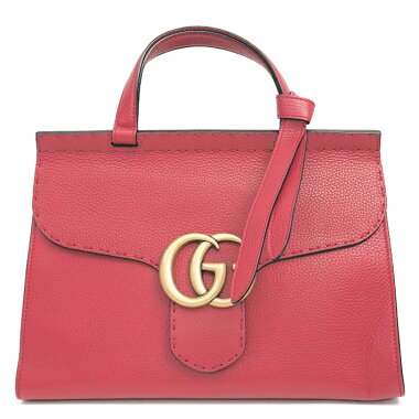 [New Arrival] [Used] [Almost New] Gucci 2WAY Shoulder Bag Antique Gold Hardware GG Marmont 421890/498879 [Handbag]
