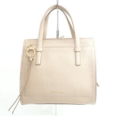 [New Arrival] [Used] [Almost New] Salvatore Ferragamo 2WAY Shoulder Bag Gold Hardware Gancini 21F478 [Handbag]