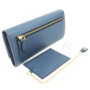 [GOODA] [New arrivals] [Used] [Almost new] Folded flap wallet with pass case Gold logo Saffiano Metal 1MH132 [Wallet]