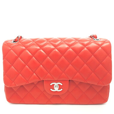 [GOODA] [new stock] [pre-owned] Chanel 30W chain shoulder W flap coco mark dekamato silver hardware Matrasse A58600 [shoulder bag]
