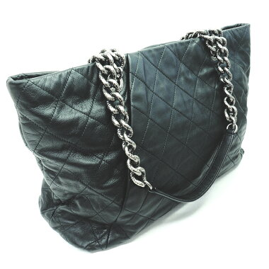 [GOODA] [New arrival] [Used] Coco charm Quilting chain tote Shoulder gunmetal Coco mark [Shoulder bag]