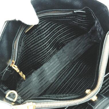 [GOODA posted] [New arrival goods] [Used] Galleria bag Triangle logo 2WAY handbag Shoulder bag Gold metal fittings Saffir Norx 1BA874 [Tote bag]