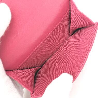 【GOODA掲載】【新入荷商品】【中古】シャネルマトラッセCC三つ折りスモールコンパクトウォレットシルバー金具ココマークA84401【二つ折り財布】