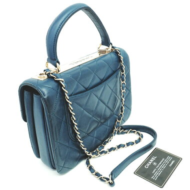 [GOODA] [New Products] [Pre-owned] [Good Condition] Chanel Small Top Handle Flap Bag Matrassegor d Metal Fitting Coco Mark A92236 [Handbag]