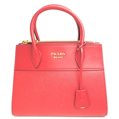 [GOODA] [new stock] [pre-owned] [almost new] Prada Paradigum bag top handle 2WAY shoulder bag gold metal fittings Saffiano City 1BA103 [handbag]