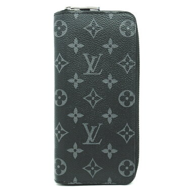 [Used] Louis Vuitton Zippy Wallet Vertical Monogram Eclipse M62295 [long wallet] [GOODA] [beauty products]