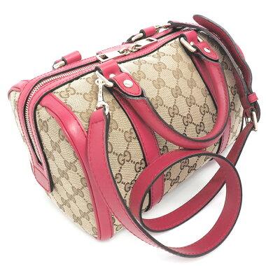 [Used] Gucci GG pattern mini Boston handbag 2WAY shoulder bag GG canvas 269876502752 [Boston bag] [GOODA posted] [Same as new]