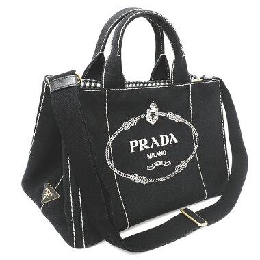 [Used] Prada CANAPA Medium Handbag 2WAY Shoulder Bag Triangle Logo Gold Hardware Kanapa 1BG642 [Tote Bag] [GOODA] [Unused / New Old]