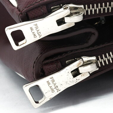 Prada 2WAY Shoulder Bag Triangular Logo Silver Hardware Saffir Norx 1BA863 [Handbag] [Good Condition]