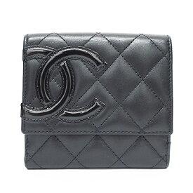【美品】シャネル ココマーク Wホック カンボンライン A50099 レディース【二つ折り財布】