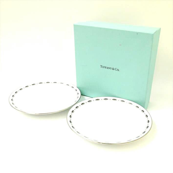 【未使用】Tiffany & Co. ティファニー グラマシープレート 2枚セット【中古】食器