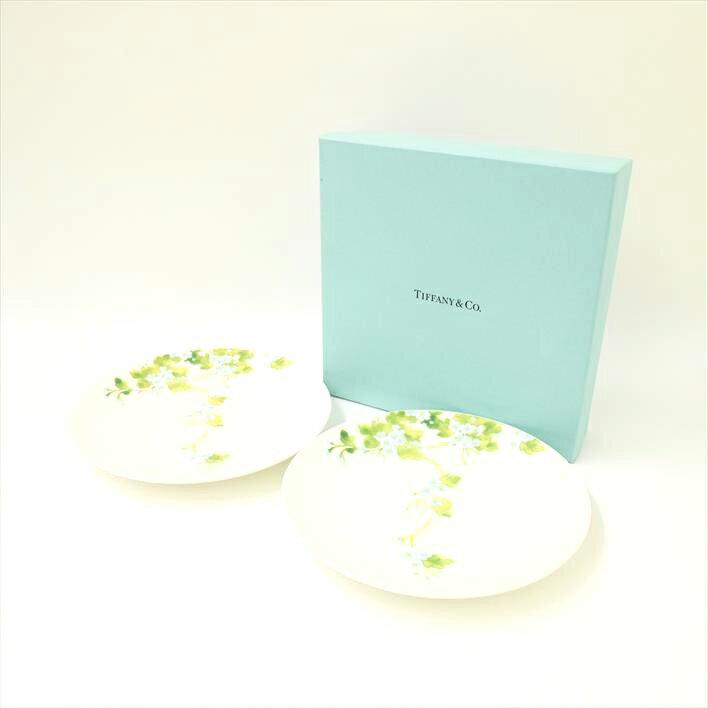 【未使用】Tiffany & Co. ティファニー リーフ プレート 2枚セット【中古】食器