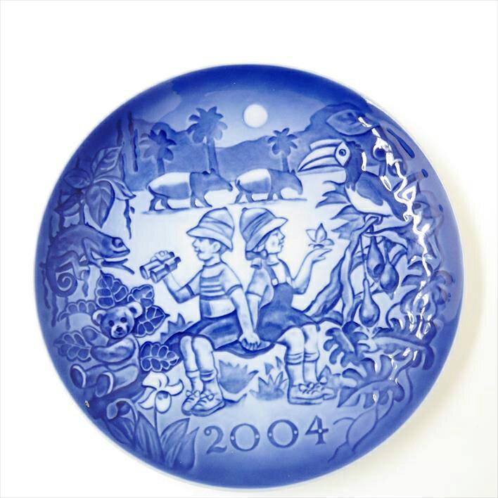 Royal Copenhagen ロイヤルコペンハーゲン ミレニアム プレート 2004年版 フィギュリンペア【中古】食器