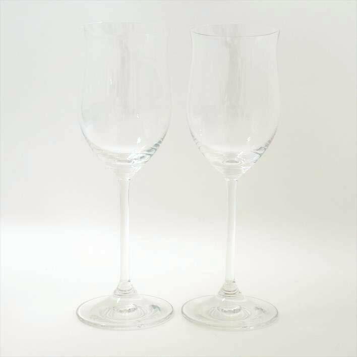 WEDGWOOD ウェッジウッド ホワイトワイングラス ペアセット【中古】食器