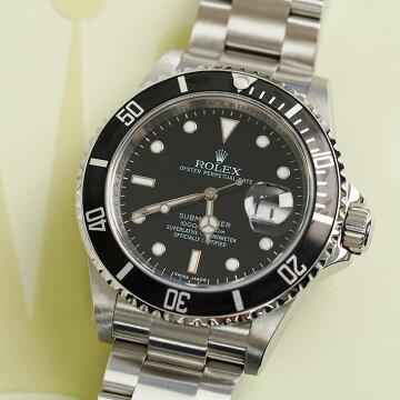 ROLEX submariner date black submenstrual watch 16610