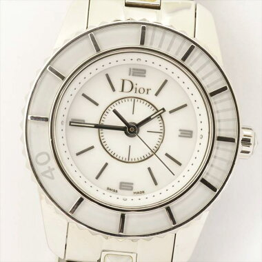 [Points 3 times] ChristianDior crystal CHRIISTAL watch used