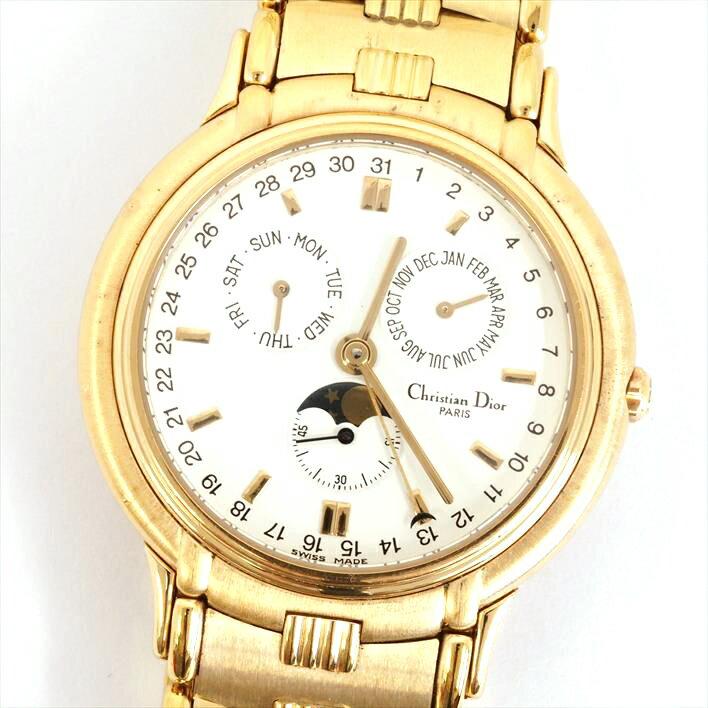 【中古】ディオール モデール デポーズ ムーンフェイズ Ref. 61271 メンズ Christian Dior MODELE DEPOSE MOONPHASE【腕時計】 ギフト プレゼント ギフト プレゼント