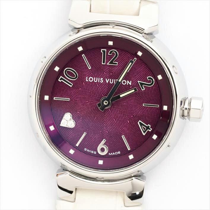 【オーバーホール・新品仕上げ済み】LOUIS VUITTON ルイヴィトン タンブール Q121DO【中古】レディース 腕時計 ヴィトン ホワイトデー ギフト プレゼント