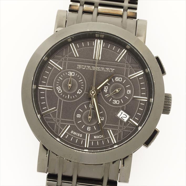 Burberry バーバリー ヘリテージ クロノグラフ Bu1373 11169 【中古】 腕時計