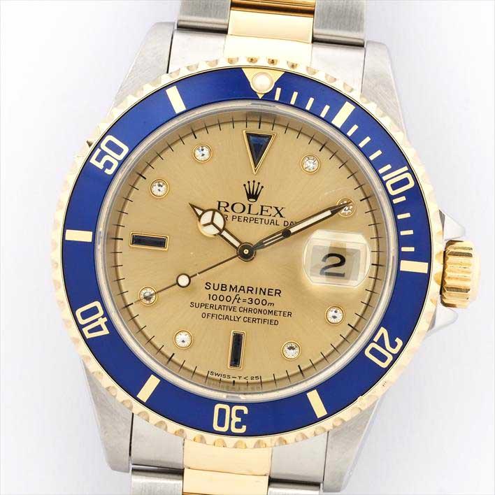 【オーバーホール・新品仕上げ済み】ROLEX ロレックス サブマリーナ 16613SG U160024(1997年製造)【中古】腕時計