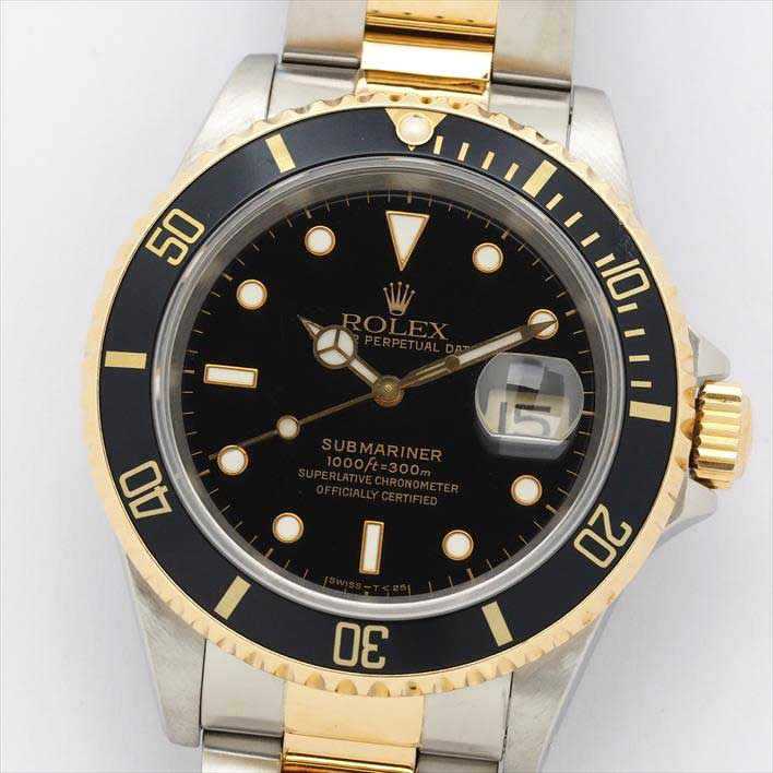 【オーバーホール・新品仕上げ済み】ROLEX ロレックス サブマリーナ 16613 S801356(1993年製造)【中古】腕時計