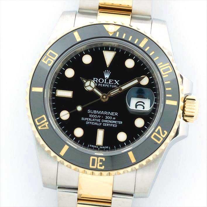 【オーバーホール・新品仕上げ済み】ROLEX ロレックス サブマリーナ 116613LN 60SG3016(ランダム2013年製)【中古】腕時計