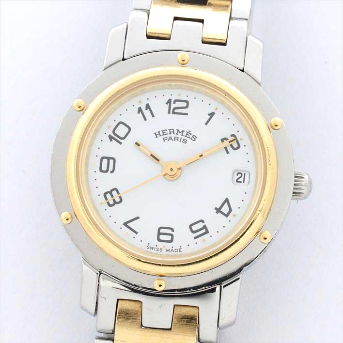 HERMES エルメス クリッパー CL4.220 944072【中古】腕時計