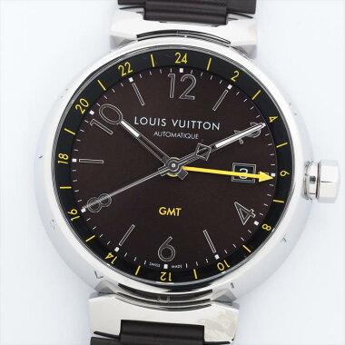【オーバーホール・新品仕上げ済み】LOUISVUITTONルイヴィトンタンブールGMTQ1155IE4558【中古】腕時計