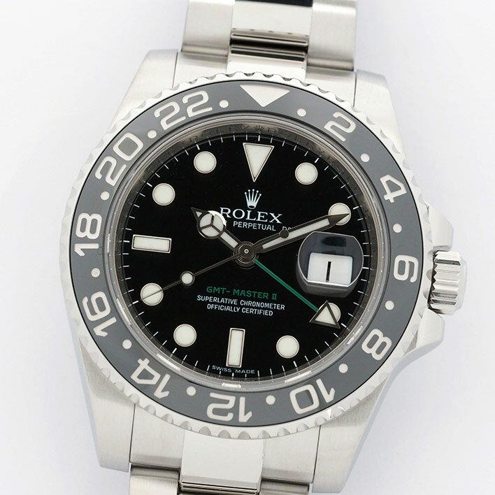 ロレックス GMTマスターII Ref. 116710LN メンズ ROLEX GMT-MASTER II【中古】【腕時計】