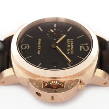 【オーバーホール・新品仕上げ済み】PANERAIパネライルミノールマリーナ19503デイズオートマチックPAM00393【中古】メンズ腕時計