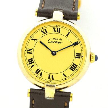 Cartierカルティエマストヴァンドーム(VLC)ヴェルメイユ【中古】レディース腕時計