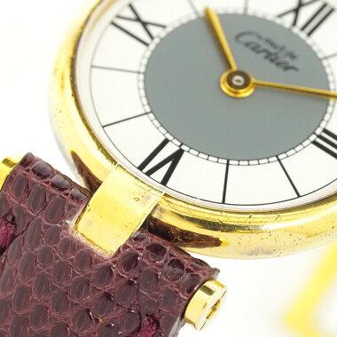 Cartier Must Vendome (VLC) Vermeil [Used] Ladies watch