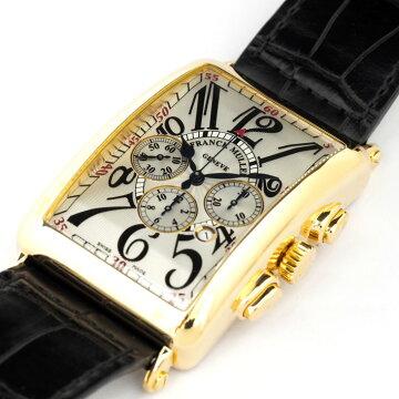 【オーバーホール・新品仕上げ済み】FRANCKMULLERフランクミュラーロングアイランドクロノグラフ1200CCAT【中古】メンズ腕時計