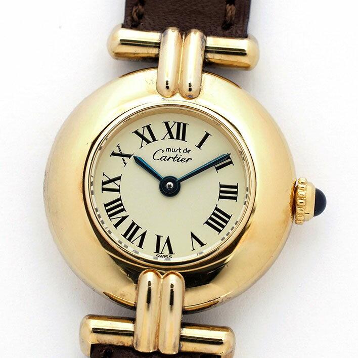 カルティエ マスト コリゼ ヴェルメイユ レディース Cartier must COLISEE VERMEIL【中古】【腕時計】
