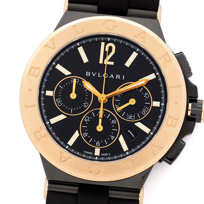 ブルガリ ディアゴノ クロノ Ref. DG42BBSPGVDCH メンズ BVLGARI Diagono CHRONO【中古】【腕時計】