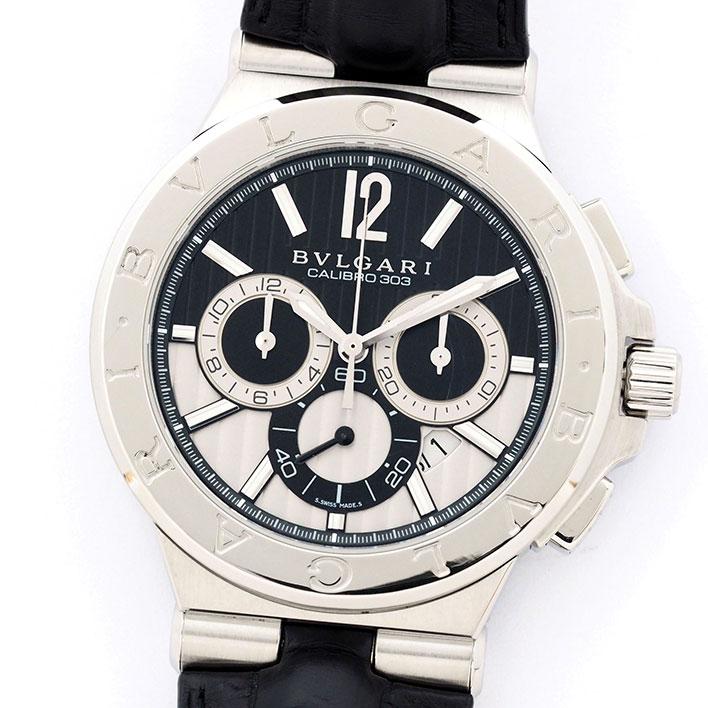 ブルガリ ディアゴノ カリブロ 303 Ref. DG42BSLDCH メンズ BVLGARI Diagono CALIBRO 303【中古】【腕時計】