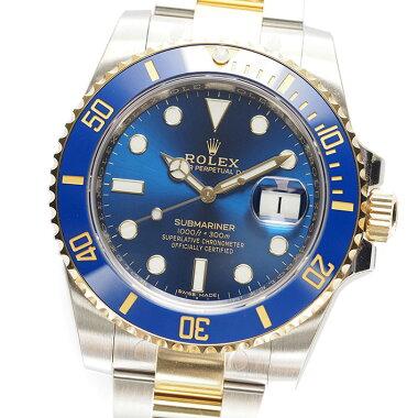 【新古品】ロレックスサブマリーナRef.116613LBメンズROLEXSUBMARINER【中古】【腕時計】